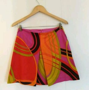 Trina Turk LA Womens Mini Skirt Multicolor